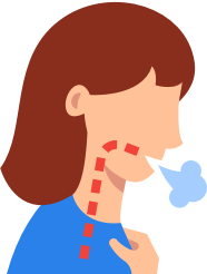 A cough or sneeze graphic