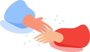 Handshakes and other person to person contact graphic